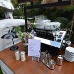 Siebträgermaschine auf einem Kaffeemobil